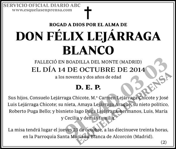 Félix Lejárraga Blanco
